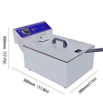 1 ピース送料無料 10L 電気フライヤーステンレス鋼商業フライヤー