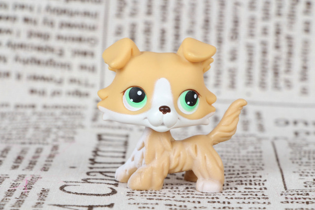 Lps Collection Figure Gift Rare Collie Dog Puppy 272 Yellow Green