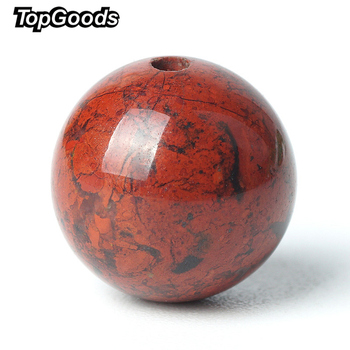TopGoods Natural Stone Beads Red Blood Jasper Gemstone Round Loose Gem Bead 6/8/10mm Dull-red Carnelian For Muslim Rosary