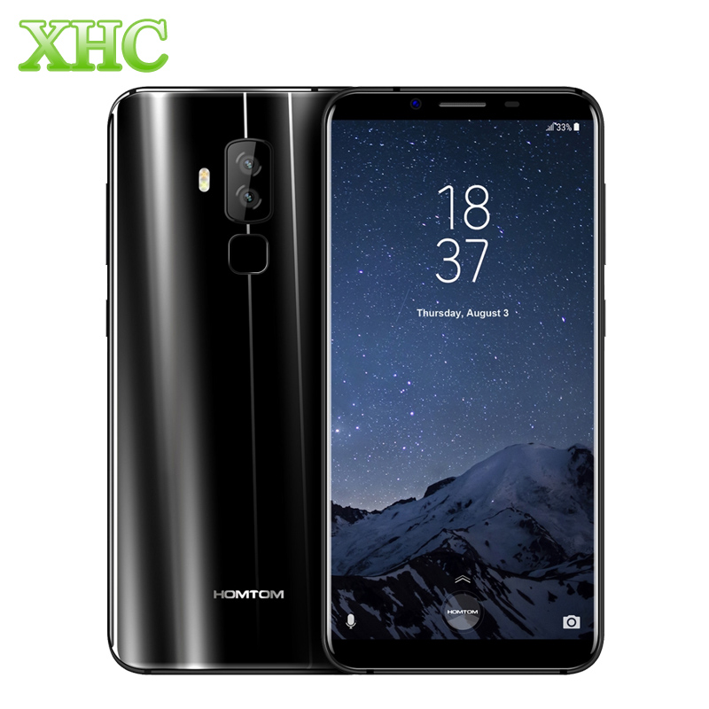 Original HOMTOM S8 5.7'' 18:9 Aspect ratio Smartphone 4GB/64GB 13MP/16MP Android 7.0 MTK6750T Octa Core Fast charge Mobile Phone