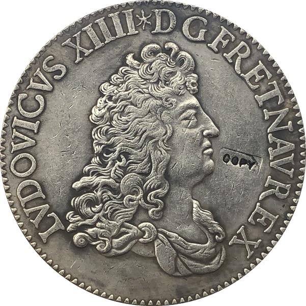 1686 France 1 Ecu - Louis XIV Coins COPY