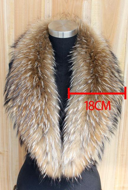 2016 Inverno Gola De Pele Real de 100% Natural & Das Mulheres Lenços Lenços de Moda Casaco Camisola Gola de pele De Guaxinim de Luxo Cap Pescoço