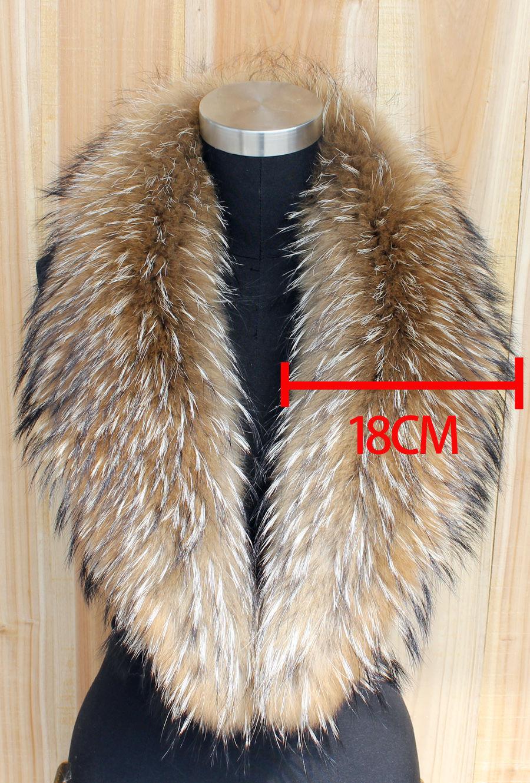 2019 musim sejuk 100% asli bulu semulajadi bulu & wanita Scarfs fesyen kot sweater tudung kolar mewah raccoon bulu leher cap
