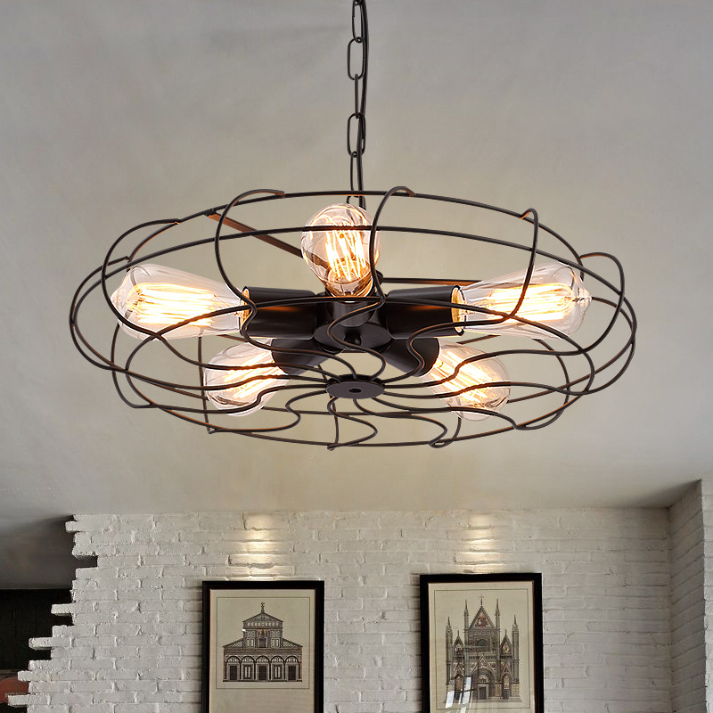 industrial Retro industry retro Iron pendant lights creative fan art lamp Restaurant Bar Cafe pendant lamp GY296 ascelina american retro pendant lights industrial creative rustic style hanging lamps pendant lamp bar cafe restaurant iron e27