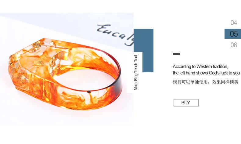 Металлическое кольцо 16/17/18 мм кольцом инструмент сенсорный экран инструмент для изготовления ювелирных изделий кольцо УФ из эпоксидной смолы плесень ювелирные изделия аксессуары