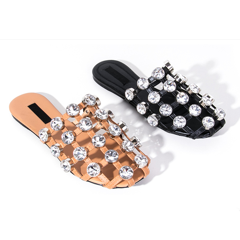 Hot Brand Designer Slipper Women Crystal Shoes Lady Chaussure Femme Flats Women Summer Beach Outdoor Shoes Sandalia FemininaHot Brand Designer Slipper Women Crystal Shoes Lady Chaussure Femme Flats Women Summer Beach Outdoor Shoes Sandalia Feminina