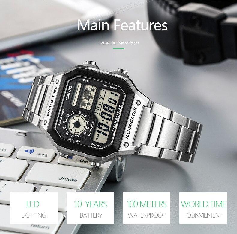 ab279ee9062 Relógio Casio Men Hot Sale AE-1000W-1A3 Digital Fashion   Casual relógios  de Pulso Do Esporte À Prova D  Água Calendário Completo Relogio mergulho em  alto ...
