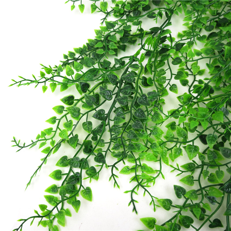 Image 4 - 82cm Artificial Green Plant Vines Wall Hanging Fake Leaves Plant for Home Garden Decoration Simulation Orchid Fake Flower Rattan-in Artificial & Dried Flowers from Home & Garden
