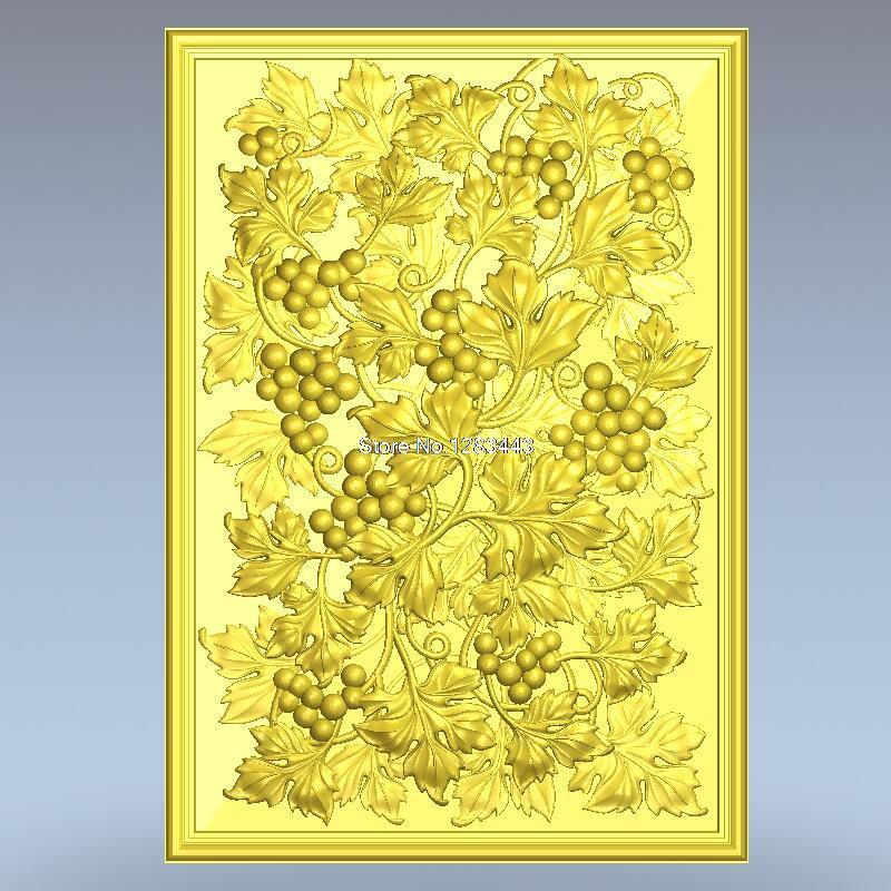 High Quality 3d Model Relief  For Cnc Or 3D Printers In STL File Format Panno_grape