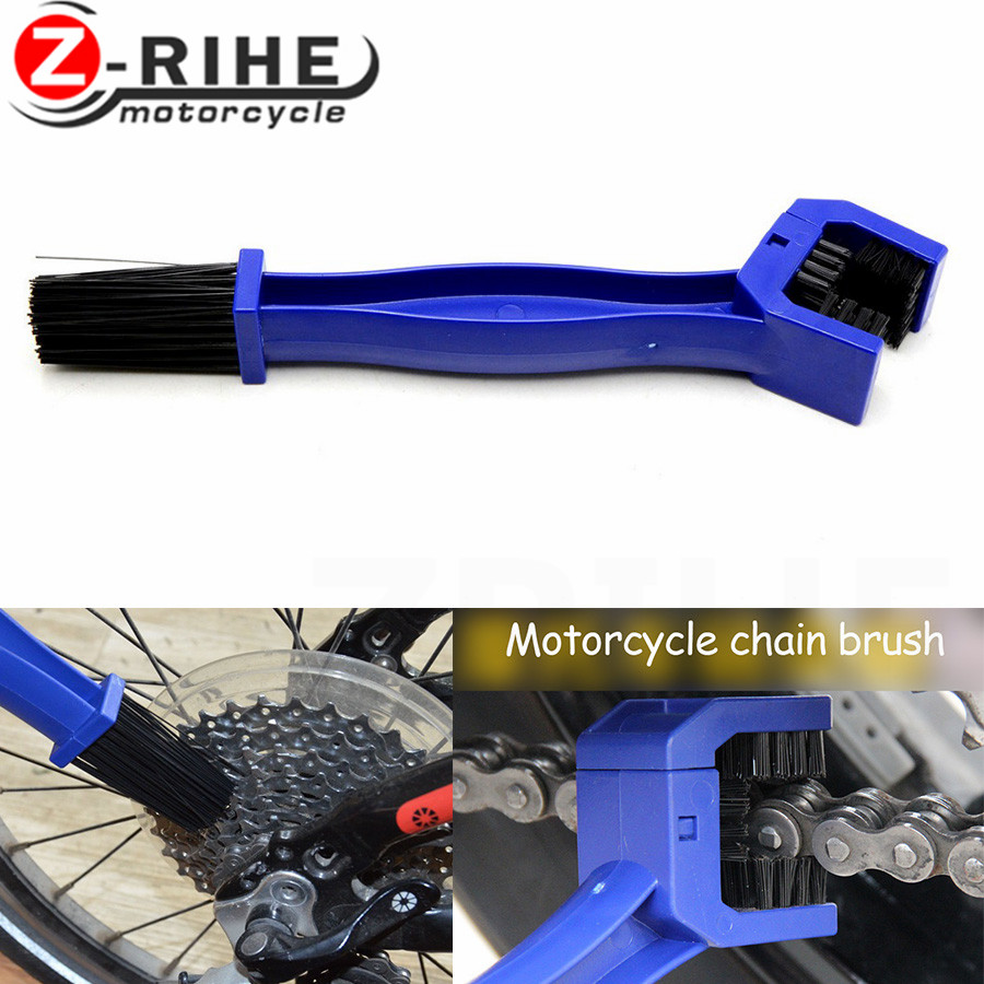 For YAMAHA YZF R25 R15 R6 R125 kawasaki z750 Z800 FZ8 FZ1 FZ6R ER-6N Motorcycle Chain Maintenance Cleaning Brush Brake Remover