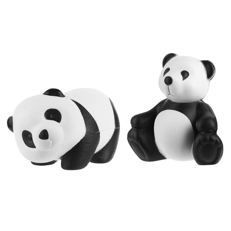 Squeeze Kawai Panda Bear Shape Soft Bread Toy Key PU Slow Rebound Quishies Anti Stress Squishi Reliever Toys For Kids