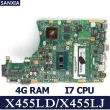 KEFU X455LD X455LJ Laptop motherboard for ASUS X455LD/J X455L X455 Y483L W419L W409L F455 Test original mainboard 4G RAM I7 CPU