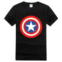 Anime Captain America's Shield Print T-Shirts Cotton Raglan Short Sleeve Bottoming Tee Shirt O-Neck Casual Tshirt Cosplay Tops