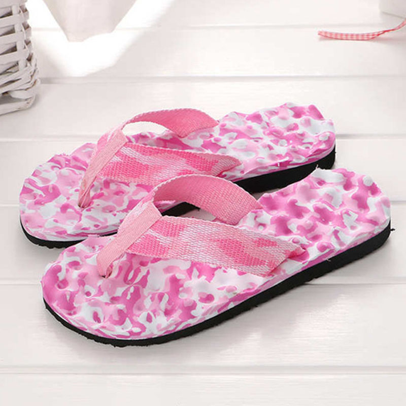 цена KESMALL Women Sandals Brand Flip Flops Women Beach Slippers For Couple Summer Shoes Flat Sandals Women Flip Flops W111
