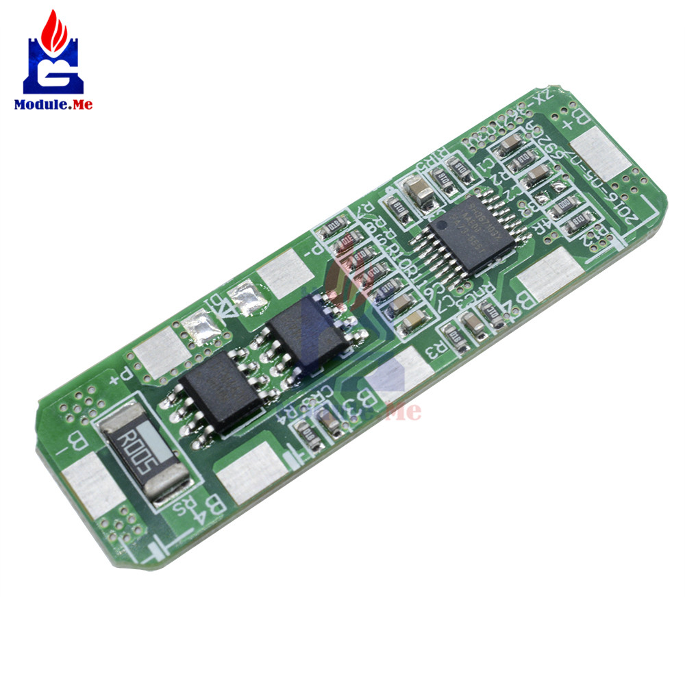 4A-5A PCB BMS Control Protection Board For 4 Packs <font><b>4S</b></font> <font><b>18650</b></font> Li-ion lithium Battery Cell MOS Transistor Overcharge Short Circuit image