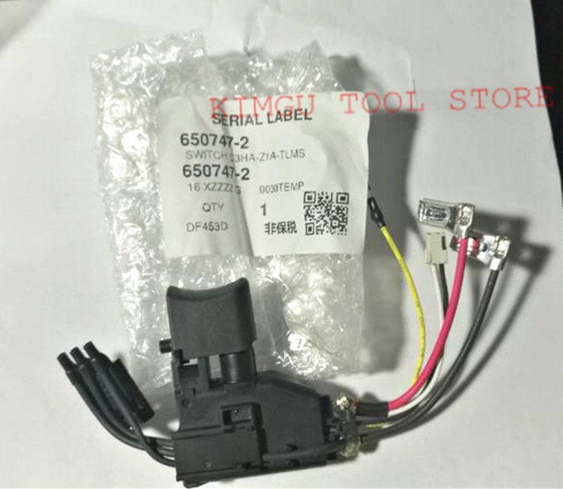 Switch 650731-7 650637-9 650747-2 For Makita  BDF456 BDF446 DHP456 DF456D DF453D DHP446 6507472 BDF446RFE