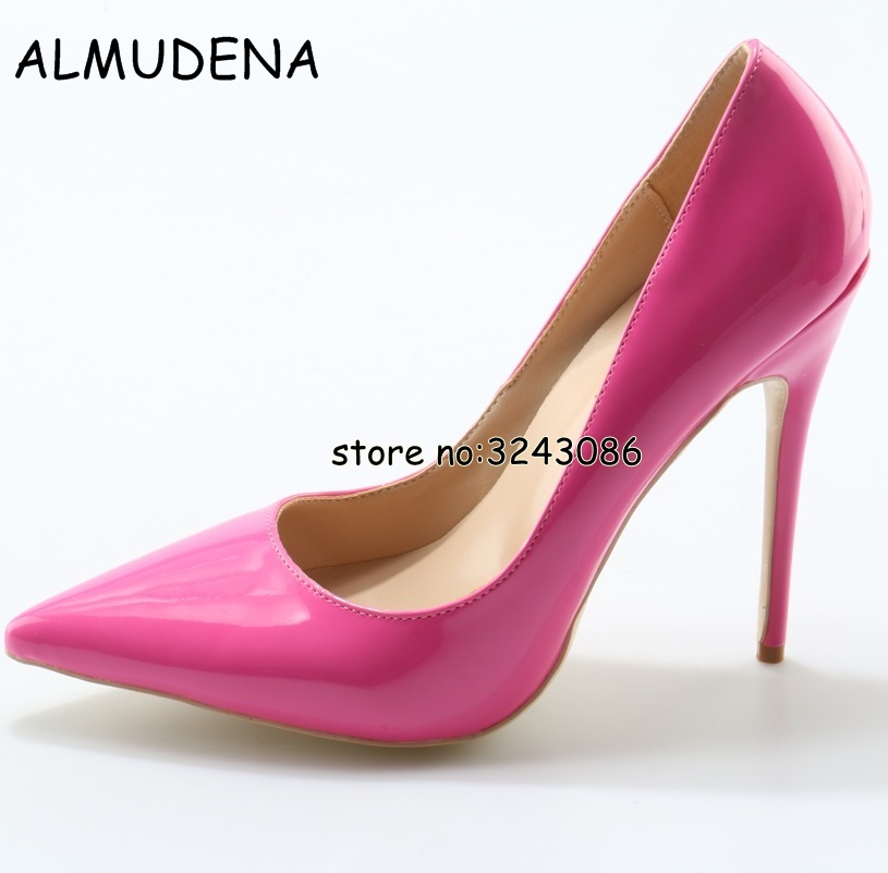 Factory Price Lady Stilleto Fashion Sexy Pumps Shoes Patent Leather High Heels Shoes Party Dress Woman Thin Heels Shoes aidocrystal heart shape factory direct sell fashion woman diamond clutch for lady