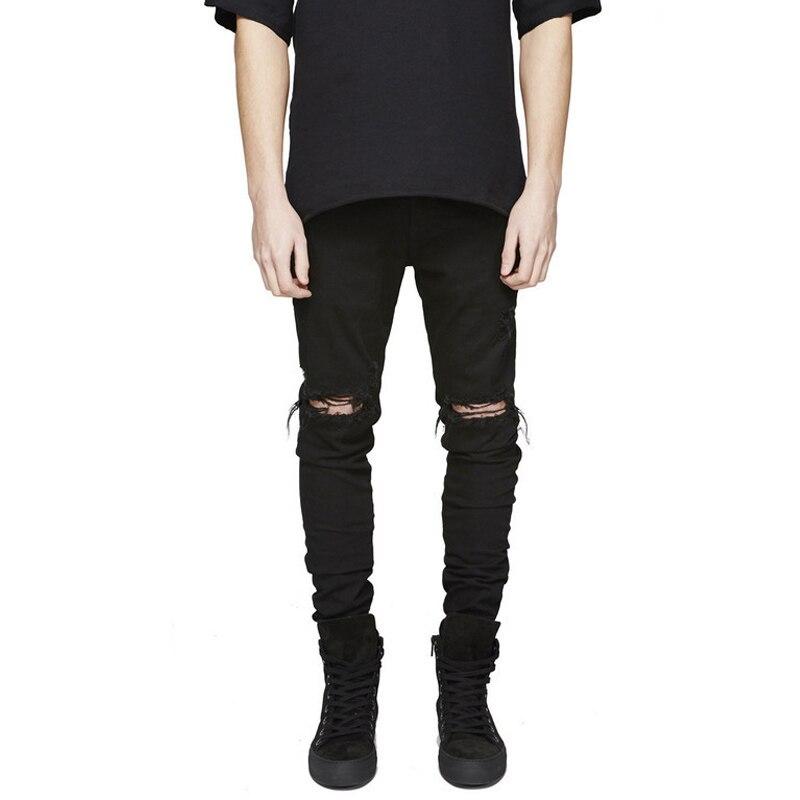 Schwarze jeans ripped modische hosenmodelle - Hm herren jeans ...