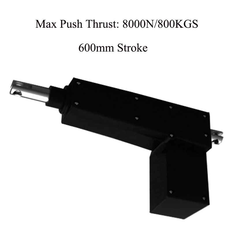 600mm stroke 8000N load 5mm sec speed 24V electric linear actuator for hospital ICU bed electric