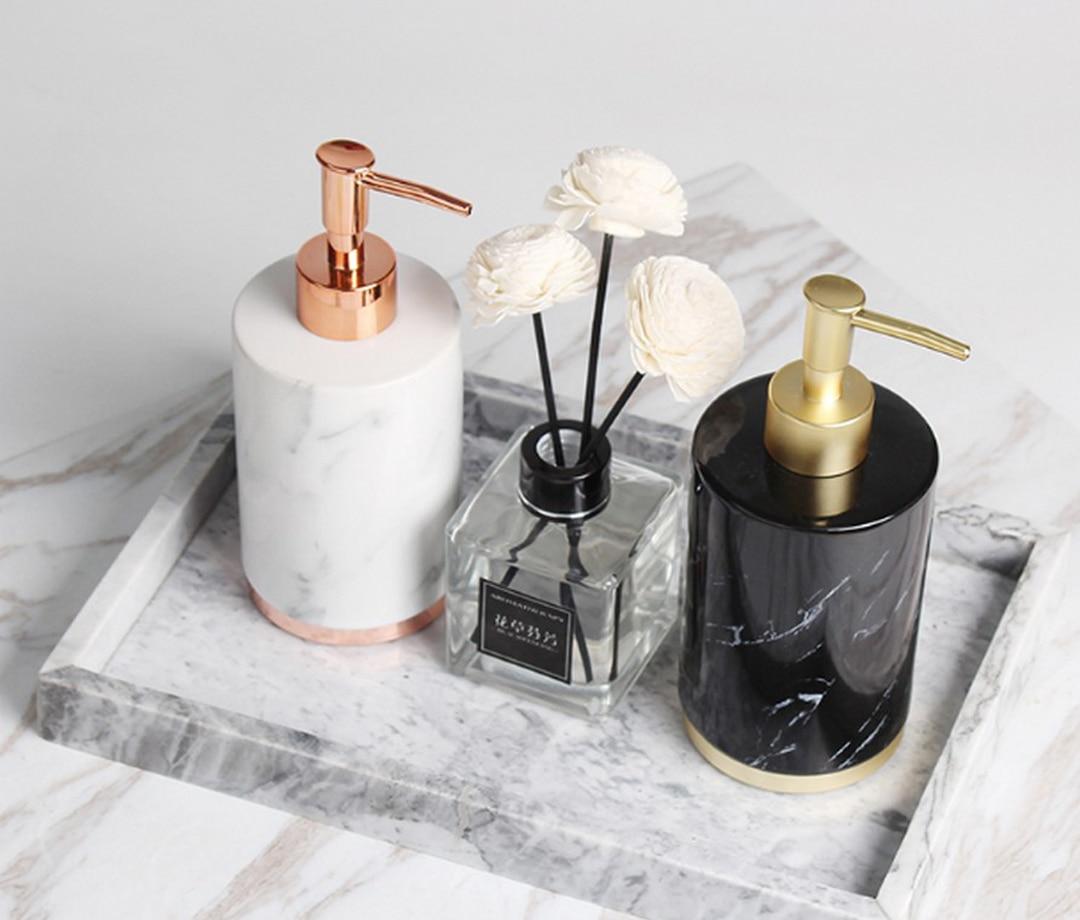 Fashion Nordic Style Bathroom Household Hand Pump Liquid Soap Dispenser Lotion Shampoo Bottle Dispenser Fitting DecorationLFB269