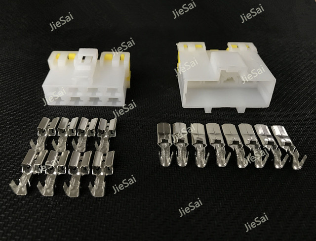 8 pin/way automotive connector electrical wiring harness female male plug  with terminals/pins