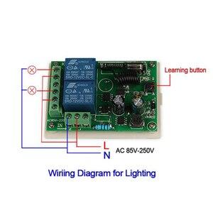 Image 4 - QACHIP 433 MHz AC 250V 110V 220V 2CH RF รีเลย์ตัวรับสัญญาณรีเลย์ไร้สายรีโมทคอนโทรล 433 MHz รีโมทคอนโทรล