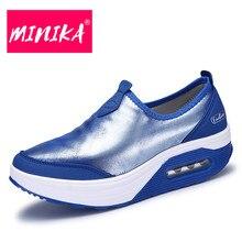 MINIKA Fashion Pailletten Schuhe Frauen 3 Farben Slip-On Flache Schuhe Frauen Große Größe Schuhe Haltbare Laufsohle Frauen Freizeitschuhe Komfort