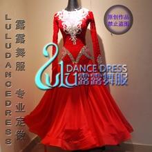 2057fffad580 British flocking fabric ballroom dance dress Moderne Waltz Standaard  Concurrentie