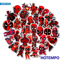 35pcs Super Hero Marvel Deadpool Stickers for Mobile Phone Laptop Luggage Suitcase Guitar Skateboard Bicycle Decal