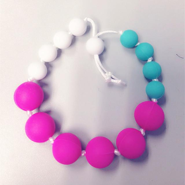 Silicone Teething Bracelet For Mom Nursing Babywearing Baby Teether Toys