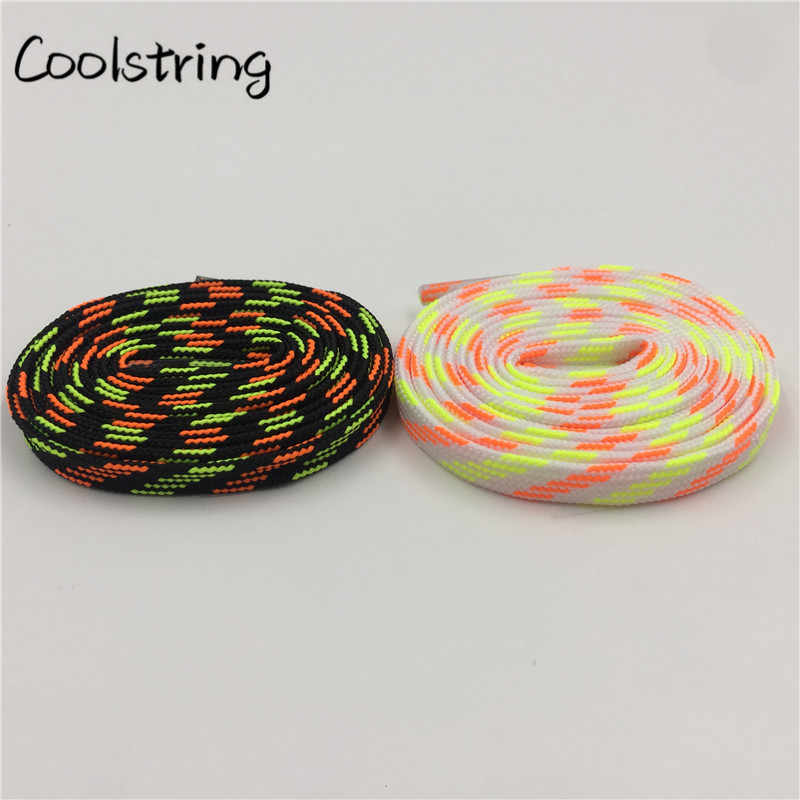 99cce47404 ... Coolstring Stylish Heavy Duty Luxury Shoe Laces Striped Eco-Friendly  Yellow Red Shoelaces Plaid Quality