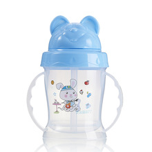 Cartoon Head Stage Training Both Hand Straw Cup Study Drink Cup 160mL Cup baby Bottle Eco-friendly PP Kid Bickiepegs