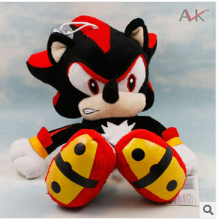 Sonic the Hedgehog Plush Toys 29cm  Black Red Ultimate Flash Sonic Hedgehog Plush Doll Game Cartoon Free Shipping