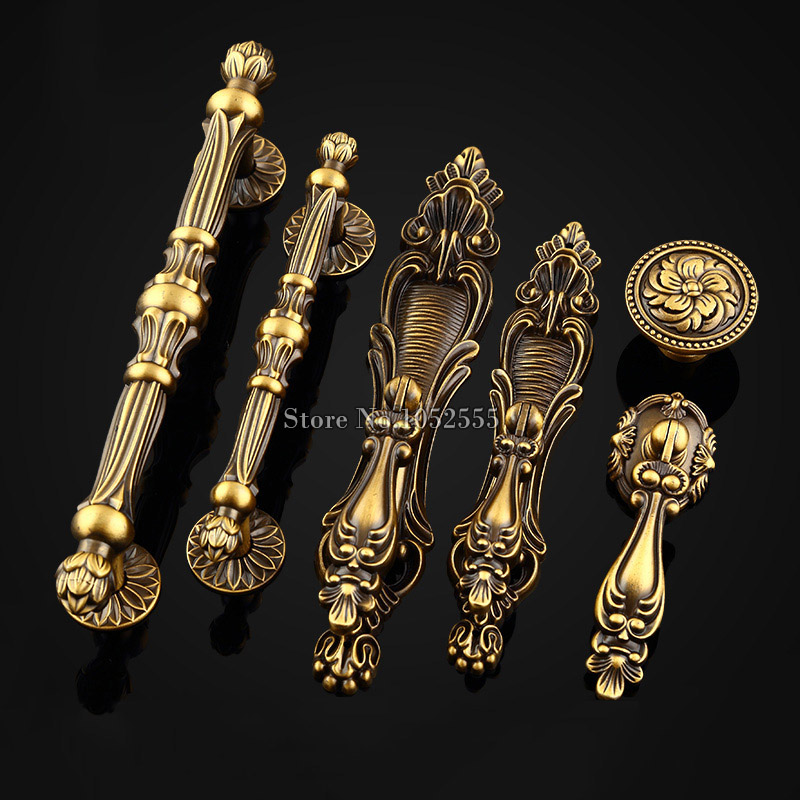 10PCS Top Quality Zinc Alloy Solid Door Handles European Antique Furniture Handles Drawer Pulls Kitchen Cabinet Handles & Knobs hot 10pcs furniture handles european antique zinc alloy drawer cupboard kitchen cabinet door handles