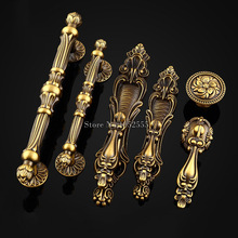 10PCS Top Quality Zinc Alloy Solid Door Handles European Antique Furniture Drawer Pulls Kitchen Cabinet & Knobs