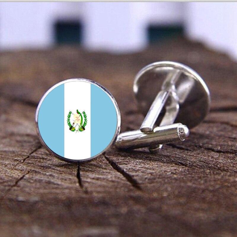 1 Para Herren Manschettenknöpfe Taste Manschettenknöpfe Männer Schmuck Guatemala Flagge Manschettenknopf Manschettenknöpfe Link Mens Hochzeit Geschenke üBerlegene Materialien