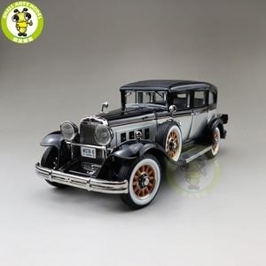 Image 1 - 1/18 auto mundo 1931 mestre peerless 8 sedan diecast modelo de carro brinquedos meninos meninas presente