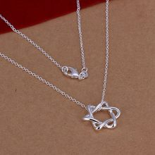 Silver Necklace Pendant,925 jewelry silver plated Necklace Big Stellar Necklace N122 /MVGMIPIM JCVDGBOJ(China)