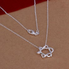 Silver Necklace Pendant,925 jewelry silver plated Necklace Big Stellar Necklace N122 /MVGMIPIM JCVDGBOJ