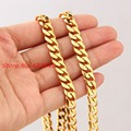 Wholesale\Retail! Customized Size 316L Stainless Steel Gold plated Curb Cuban Chains Neklace 8mm For Handsome Boy\ Men