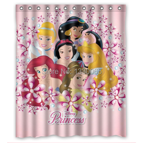 Customized Princess Shower Curtain Awesome Quality