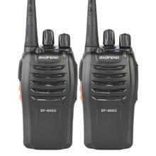 Original 2PCS/Lot Baofeng BF-666S Walkie Talkie Portable Radio BF666s 16CH UHF 400-470MHz Comunicador Transmitter Transceiver
