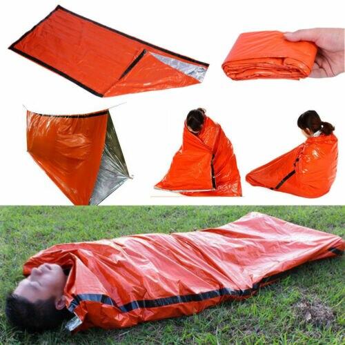 Многоразовый аварийный спальный мешок тепловой Водонепроницаемый выживания кемпинг дорожная сумка S - Цвет: PE