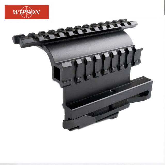 US $10 79 46% OFF|WIPSON Tactical AK Serie Rail Side Mount Quick QD Style  AK47 AK74 SAIGA Detach 20mm Weaver Rail For Hunting Airsoft Scope-in Scope