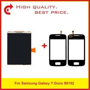 "Image 1 - Hohe Qualität 3,14 ""Für Samsung Galaxy Y Duos S6102 LCD Display Mit Touchscreen Digitizer Sensor Panel + Tracking Code"