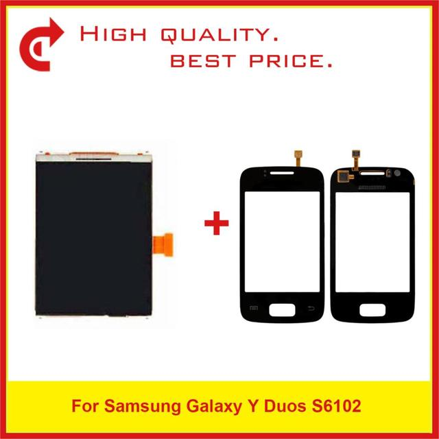 """Hohe Qualität 3,14 """"Für Samsung Galaxy Y Duos S6102 LCD Display Mit Touchscreen Digitizer Sensor Panel + Tracking Code"""