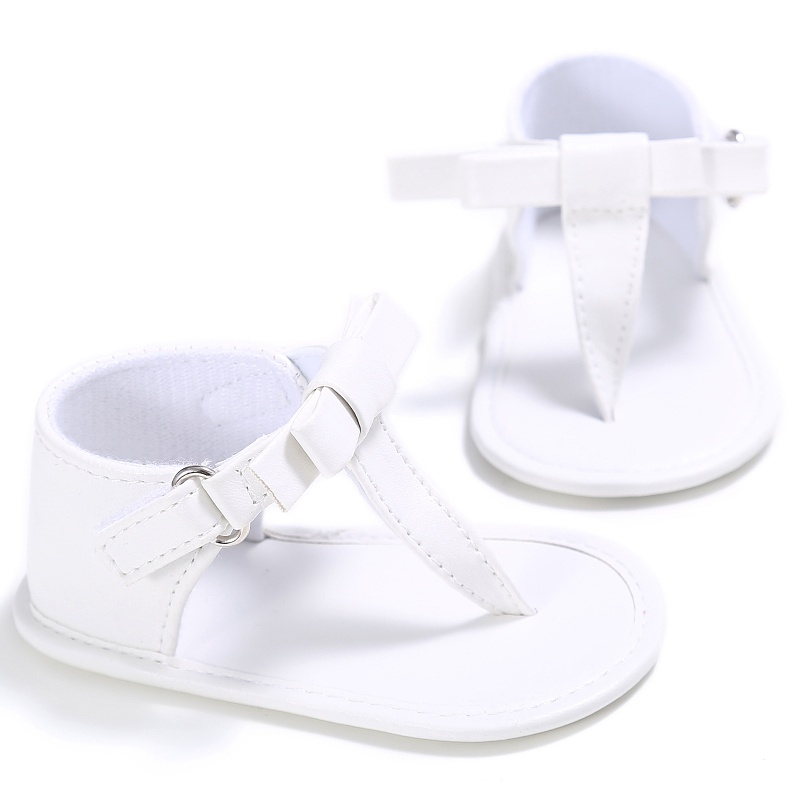 Summer Style KidsBaby Girls PU Leather Bowknot Flip-flops Sandal Shoes Slippers