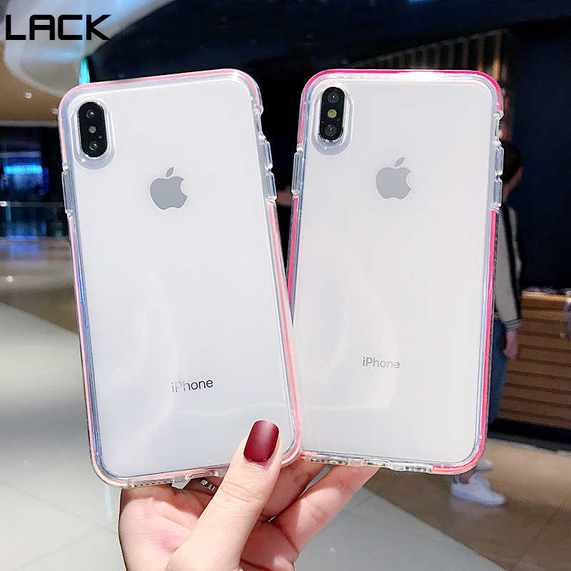 LACK Candy สี Anti - knock นุ่มสำหรับ iphone XS Max Transparent สำหรับ iphone 8 Plus 6 6 S 7 X XR