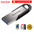 SanDisk 100% Original Genuine Ultra Flair USB 3.0 USB Flash Drive 16GB 32GB 64GB 128GB Pen Drive Memory Stick 10 years warranty