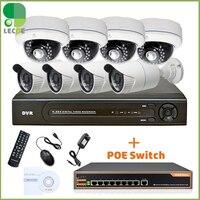 Red 8Ch POE Sistema de Seguridad de Vídeo (Nvr)-8 POE 1MP IP Resistente A la Intemperie Cámaras de $ number pies de Visión Nocturna, 2 TB de DISCO DURO 8 puerto POE Switch